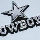Official Licensed NFL Dallas Cowboys Car Emblem with Swarovski Crystal Bling