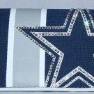 Official Licensed NFL Dallas Cowboys Organizer Mesh Wallet with Swarovski Crystal Bling