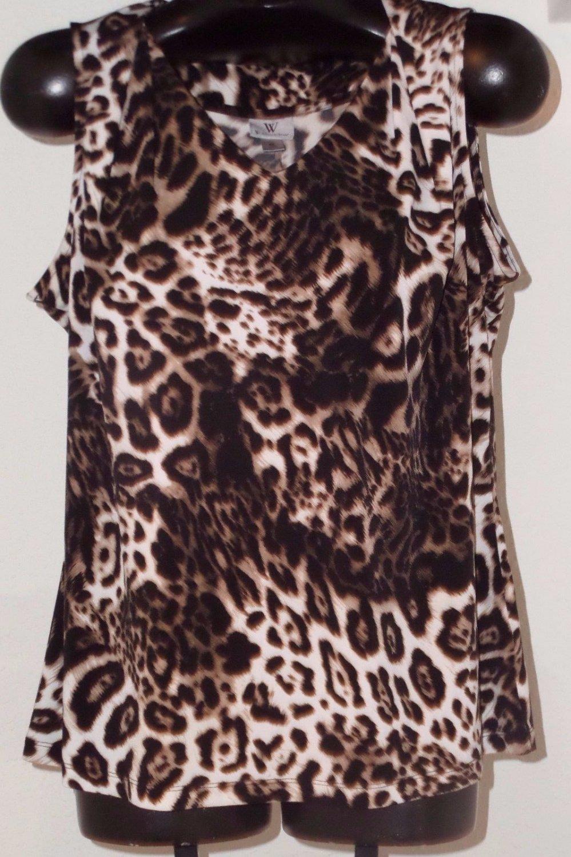 Women's Animal Print Top Size XL by Worthington