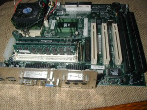 LAPTOP MOTHER BOARD WITH FAN ASSEMBLY 182453-01 8G203006427