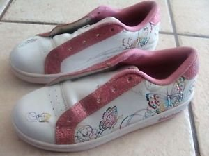 Skechers Girls White Butterfly Athletic Shoes Size 3