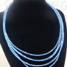 Avon Seed Blue Colored Necklace Vintage