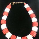Avon Muti-Color Red & White Vintage Necklace