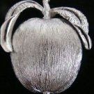 Silvertone Apple Sara Coventry Apple Pin Brooch