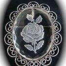 Vintage Clear Floral Brooch