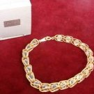 Avon Goldtone Captured Facets Bracelet Large - (vintage)