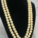 Avon PC Pearl Pearlesque Necklace w/ Rhinestones & Clip Earrings 2005