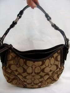 COACH Soho Signature Small Hobo Purse #6266