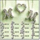 Avon Dazzing Initial Rhinestone Necklace w/ Embellishment K