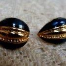Avon Blue Seas Clip Earrings - (vintage)