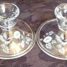 Avon Hummingbird Crystal Candle Holders