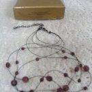 Avon Faux Amethyst Multistrand Gift Set Vintage