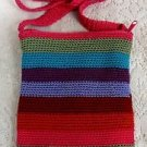 Aldo Girls Ladies Womens Knited Multi Color Small Shoulder Bag Purse