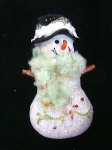Snowman Crafted Brooch Pin