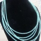 """Avon Seed Light Green Colored Necklace Vintage 18"""""""