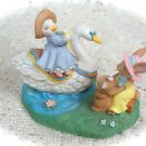 Avon Kathy Jeffers Rabbit Swan Source of Fine 1993 Collectibles