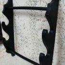 United Cutlery Quality Wood Black Double Display Katana Sword Hanger NEW
