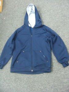 Anchor Blue Navy Blue  Coat Jacket w/ Hoodie Large