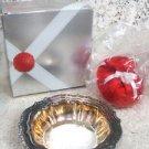 Avon Hudson Manor Collection  Silverplated Dish w/ Ariane Satin Sachet