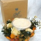 Avon Gift Collectible   Autumn Pillar Wreath Candle Holder