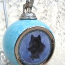 Silver Scout BlackWolf  Christmas Collectible Bulb