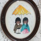 DeGrazia Cross Stitch Picture Sun Showers