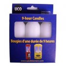 9-Hour Candles, Regular, White, 3pk