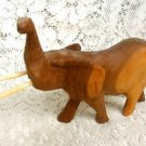 Elephant Wood Figurine w/ Husk Vintage Hand Carved Sculpture