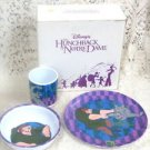 Disney The Huncback  of Notre Dame CollectiblePlate, Cup, & Bowl