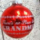 Red Christmas Bulb  No Place Like Grandma's