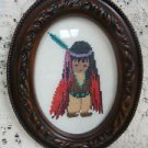 DeGrazia Cross Stitch Picture Red Blacket