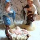 Nativity Joseph, Mary, & Jesus Porcelain Vintage Set