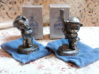 Avon Fine Pewter Figurines Set of (2) - L@@K!