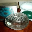 Avon Fostoria Egg Soap Crystal Dish & Spring Lilac Fragrance Soap