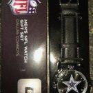 Men's Cowboys NFL Watch & Keychain Gift Set
