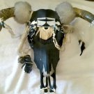 Cow Skull Decorative Hand Painted Cowhide Beads Native Artwork