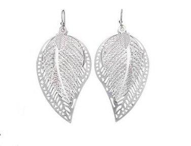 Avon Silver Double Lear Pierced  Earrings