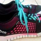 Womans Reebok Athlete Black Multi Color Shoes Size 10