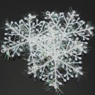 3pcs Christmas White Snowflake Holiday Party Hotel Decor Supplies