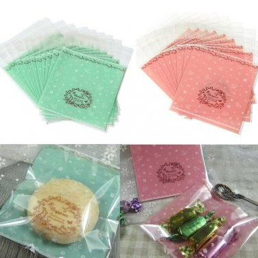 Clear Cellophane Cookie Sweet Wedding Birthday Candy Party Bags