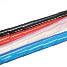 1M Spiral Wire Wrap Tube Manage Cord for PC Computer Home Cable 6-60MM