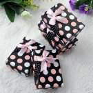 5PCS Dot Bowknot Jewelry Necklace Bracelet Ring Display Gift Box Case