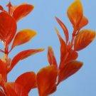 Aquarium Fish Tank Artificial Plant Orange Plastic Decoration 20cm