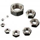 10pcs M3-M24 Metric Hexagonal Steel Full Nuts Standard Pitch/Screws