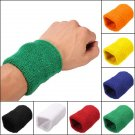 Unisex Sports Cotton Wrist Sweatbands Hand Wrap Tennis Badminton Band