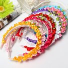 Children Girls Rose Floral Crown Bright-Colored Head Band