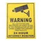 200 x 250mm Monitoring Security Cameras CCTV Surveillance Warning Sign