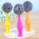 Creative Soft Stainless Steel Wire Ball Kitchen Cleaning Pot Brush