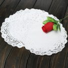 10Pcs 7.5 Inch Round Paper Lace Cake Dessert Doilies Placemat