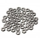 50pcs M2 Dia 2mm Hex Screw Nut 304 Stainless Steel Nuts